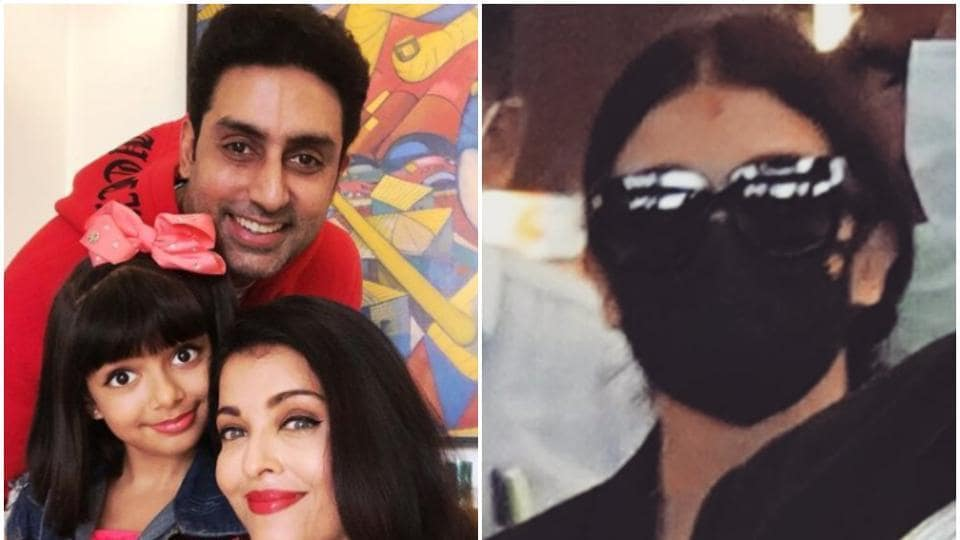 Aishwarya Rai steps out of Mumbai after 10 months, spotted in Hyderabad with Abhishek...