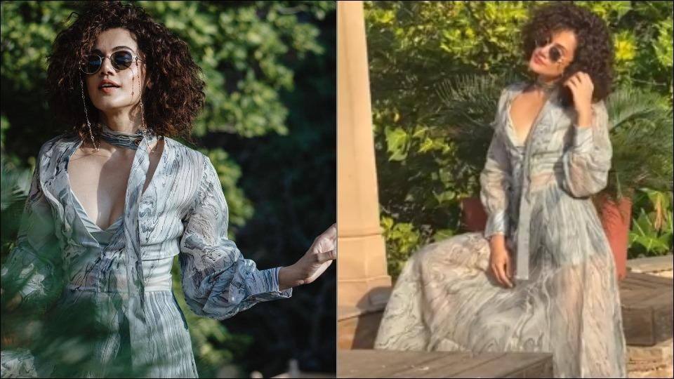 Taapsee Pannu's steamy throwback in sheer grey maxi stuns her rumoured beau
