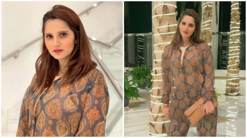 Sania Mirza looks stunning in her beige jumpsuit