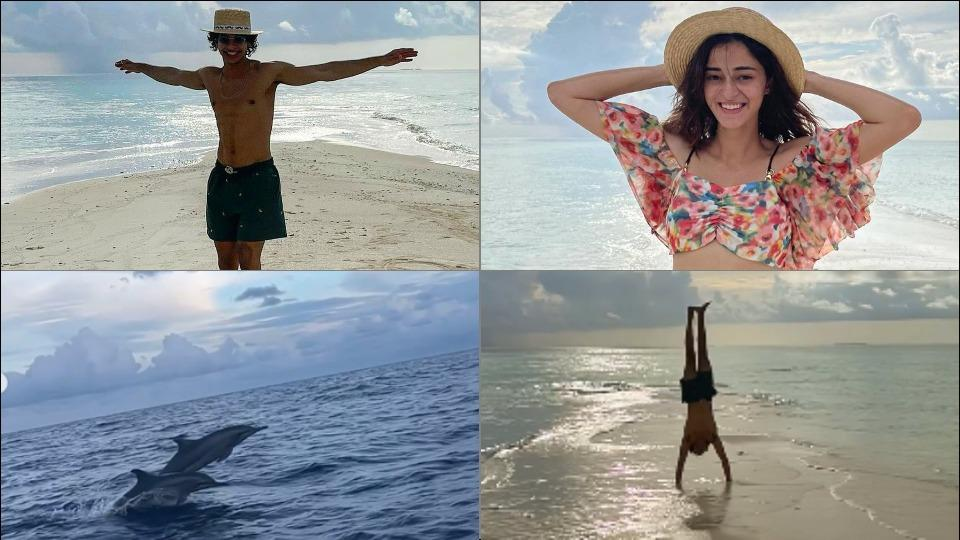 Ananya Panday, sunsets and dolphins feature in Ishaan's Maldives video