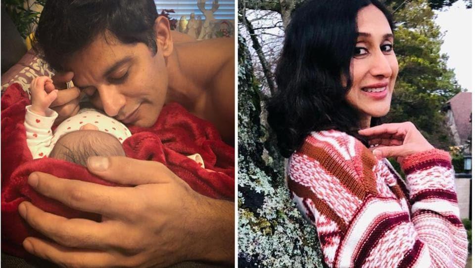 Karanvir Bohra posted a cute picture with his newborn daughter.