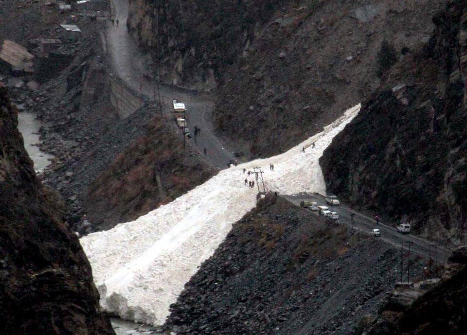 The Border Roads Organisation (BRO) is trying to remove the debris to clear the Kinnaur-Kaza road.