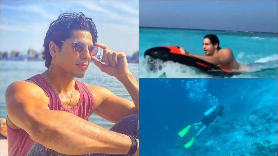 Sidharth Malhotra's scuba diving and seabob adventure makes us crave for a Maldives vacay