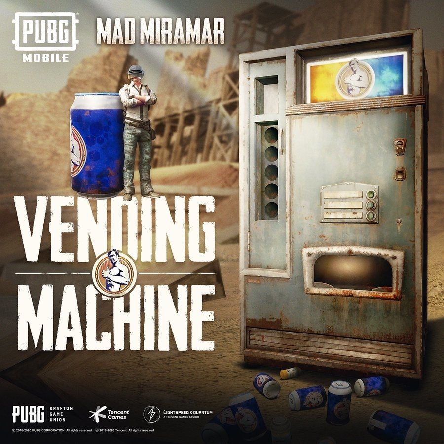 Vending machines are available in three locations in Miramar.