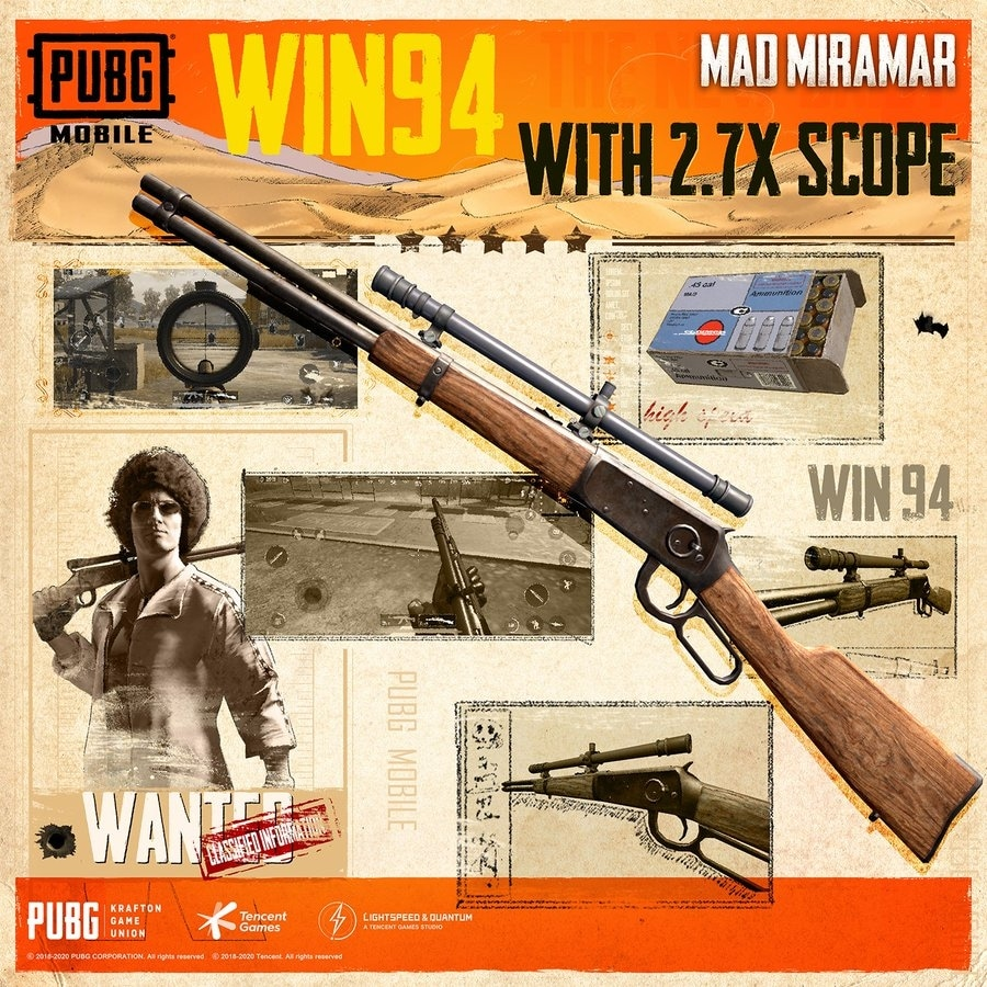Scoped Winchester 94 can be used as a mid-range sniper with the 2.7x scope.