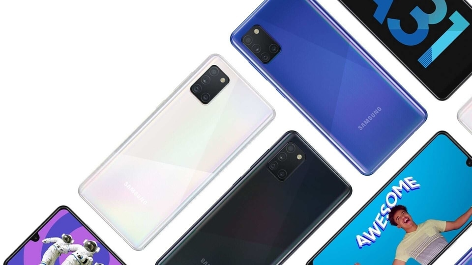 Samsung Galaxy A31 comes in three colour options of blue, black and white.