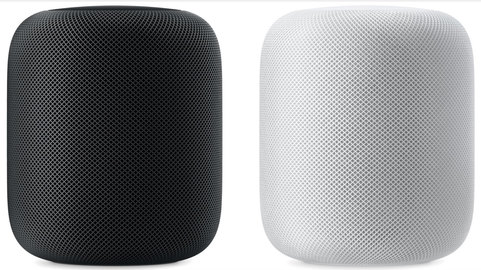 The Apple HomePod is available in two colours - White and Space Grey.