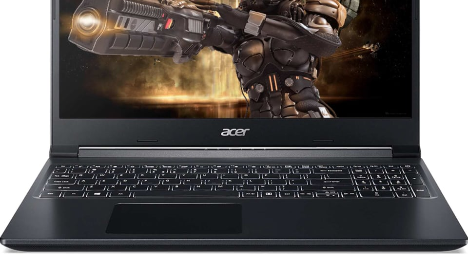 You get a 15.6-inch FHD resolution display with 100% sRGB color gamut in Acer Aspire 7 gaming laptop.