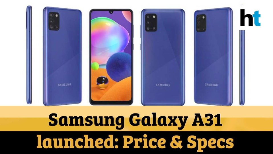 The Samsung Galaxy A31 costs  <span class='webrupee'>₹</span>21,999 in India.