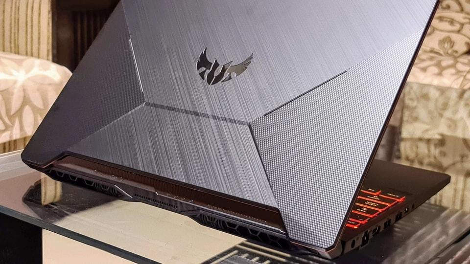 Asus TUF Gaming A15 laptop Bonfire Black variant.