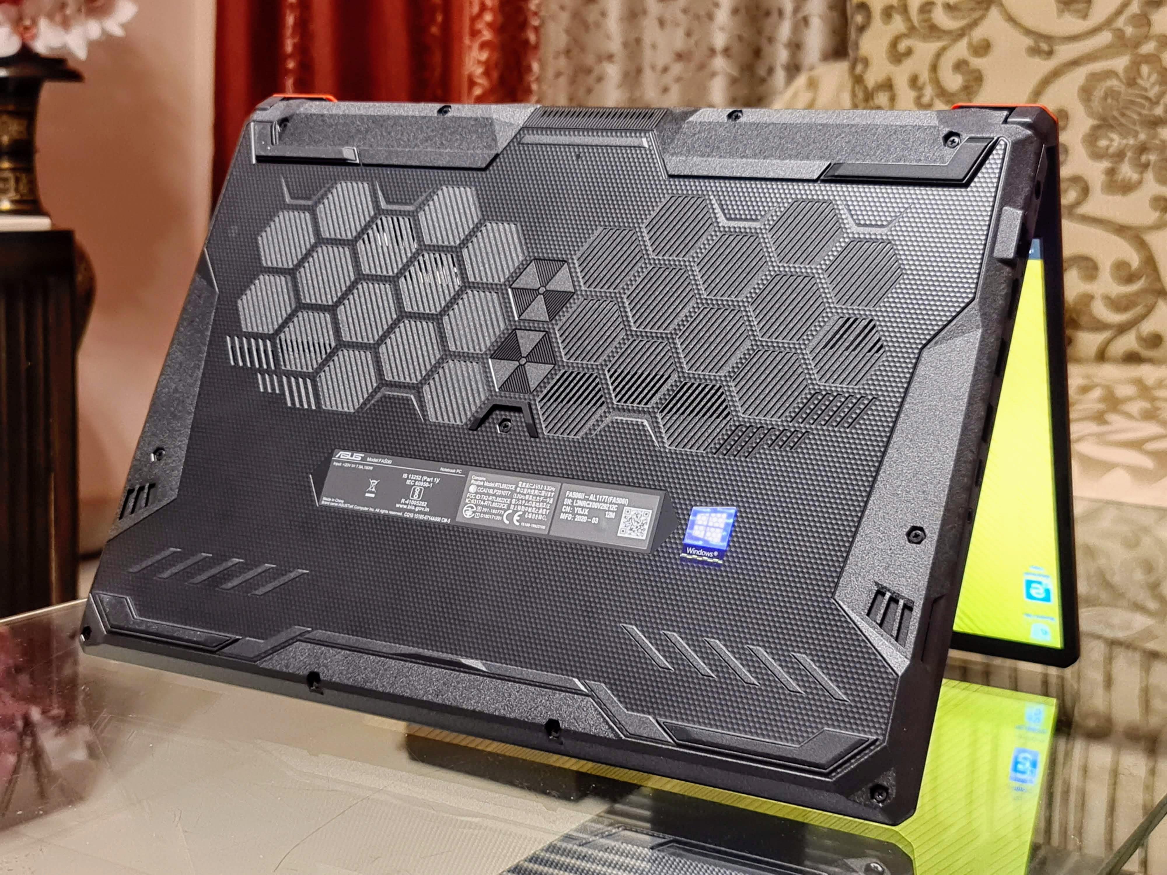 Asus TUF Gaming A15 Honeycomb design.