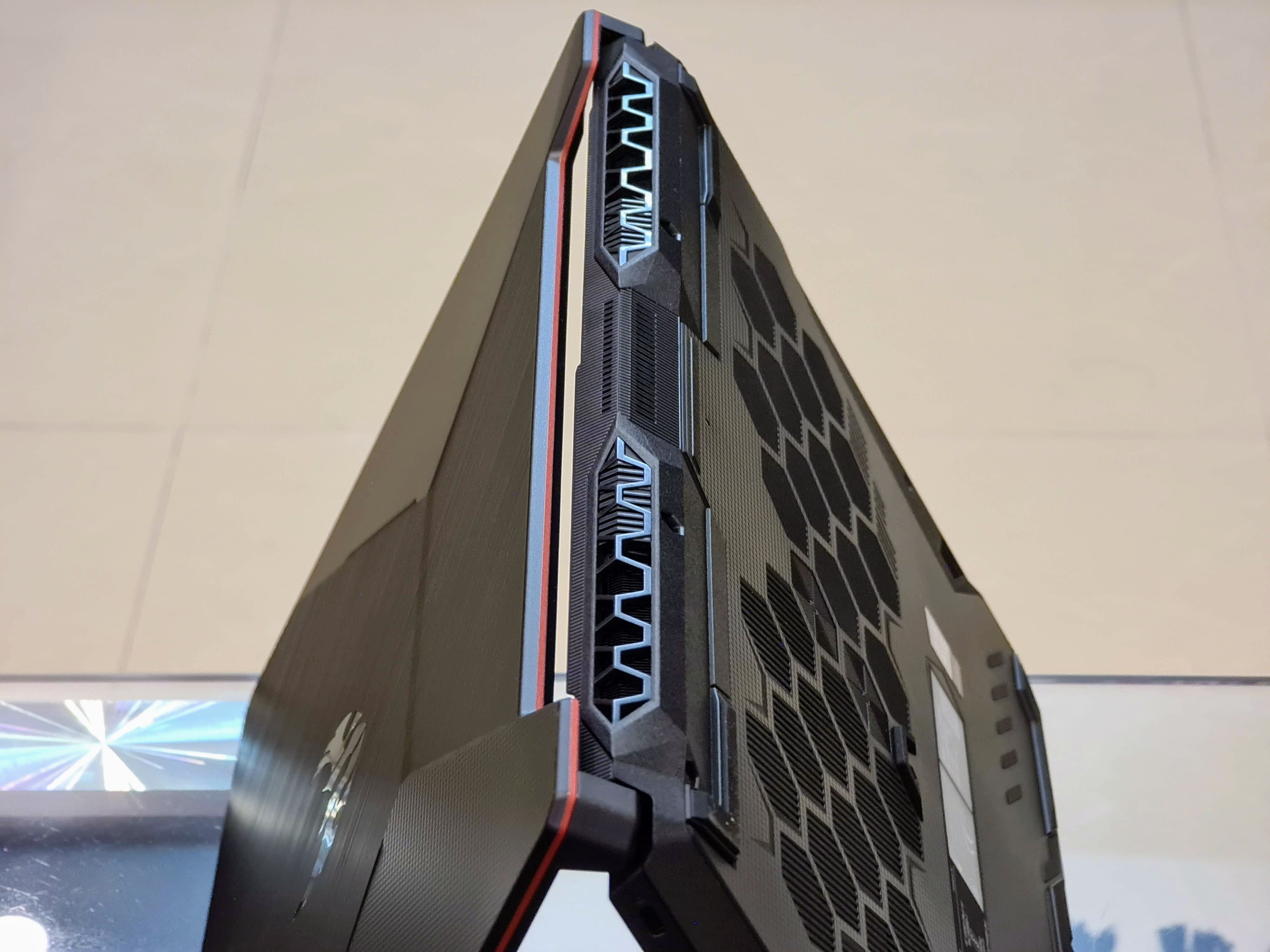Asus TUF Gaming A15 heat vents.
