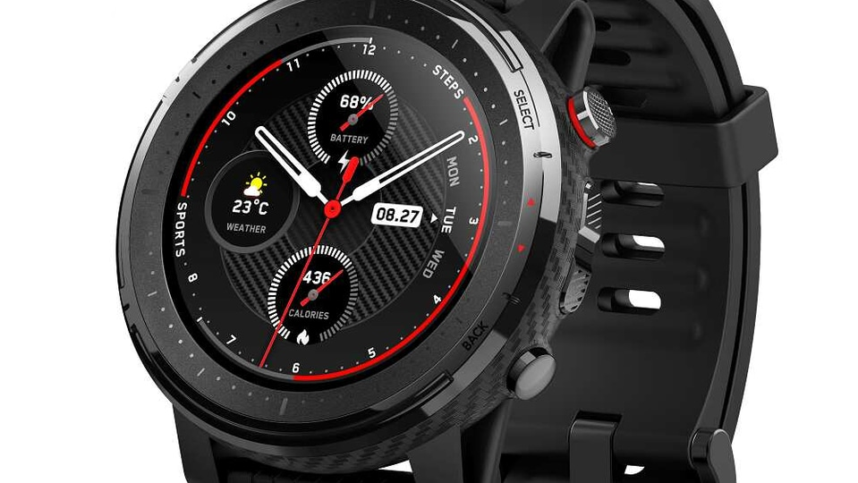 The Huami Amazfit Stratos 3 is loaded with 80 different sports modes and a heart rate monitor as well.