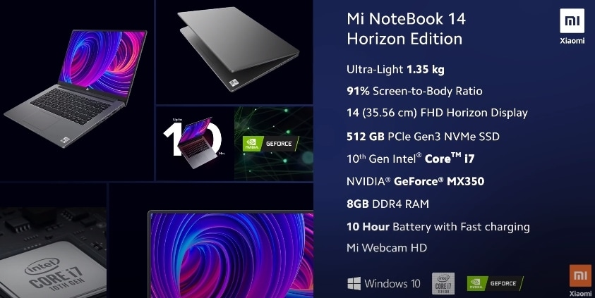 Mi NoteBook 14 Horizon Edition launched in India: Check price, specs