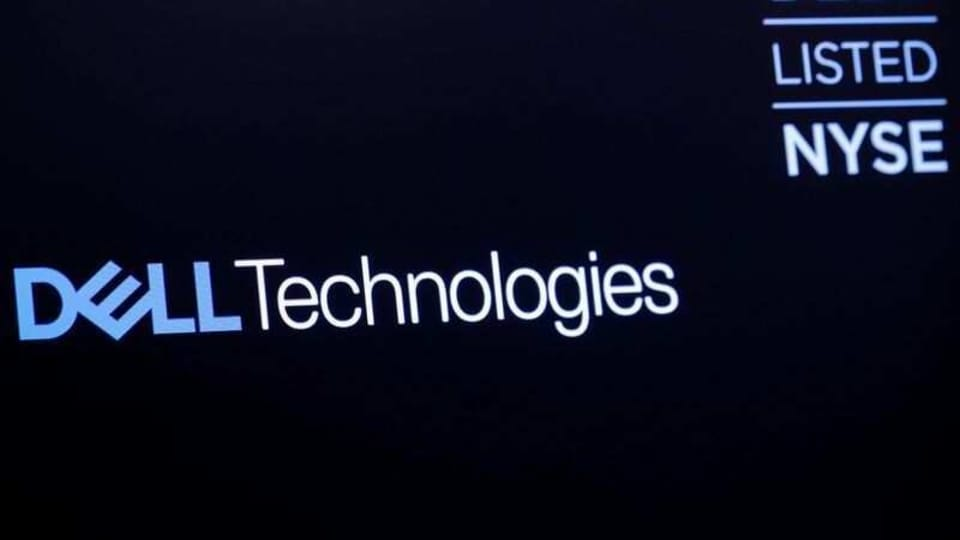 FILE PHOTO: The logo for Dell Technologies Inc. is displayed on a screen on the floor of the New York Stock Exchange (NYSE) in New York, U.S., January 10, 2019. REUTERS/Brendan McDermid