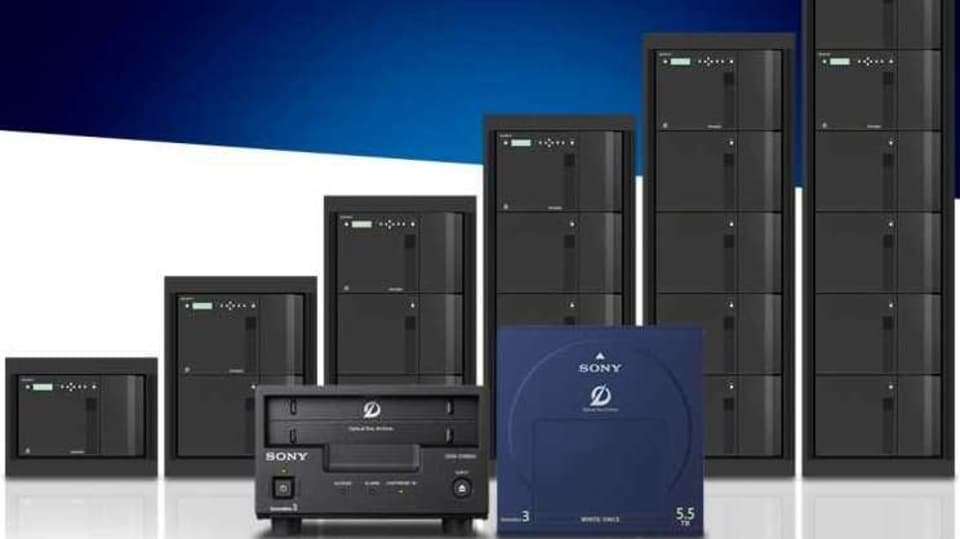 Sony says that up to five extension units can be attached to the master units to make a single 42U library.