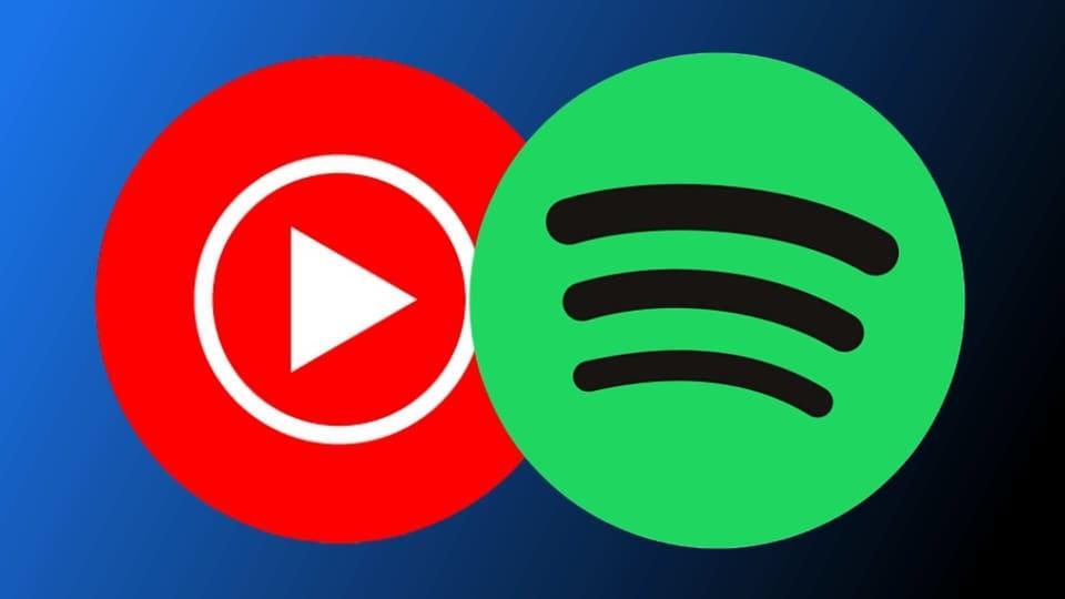 YouTube, Spotify logos