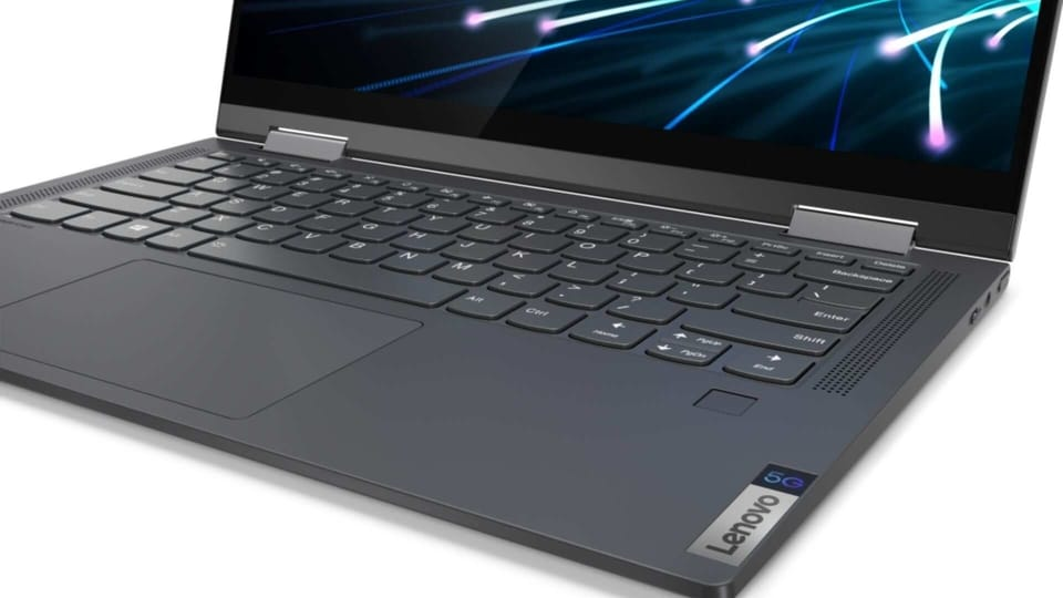 Lenovo Flex 5G laptop comes in 'Iron Grey' colour.