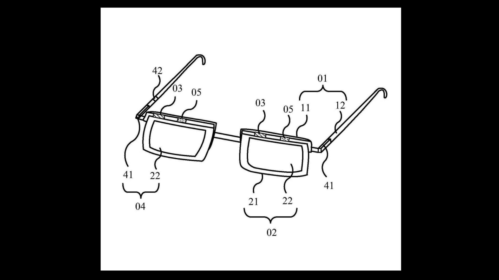 The smart glasses as illustrated on the patent filed by BOE.