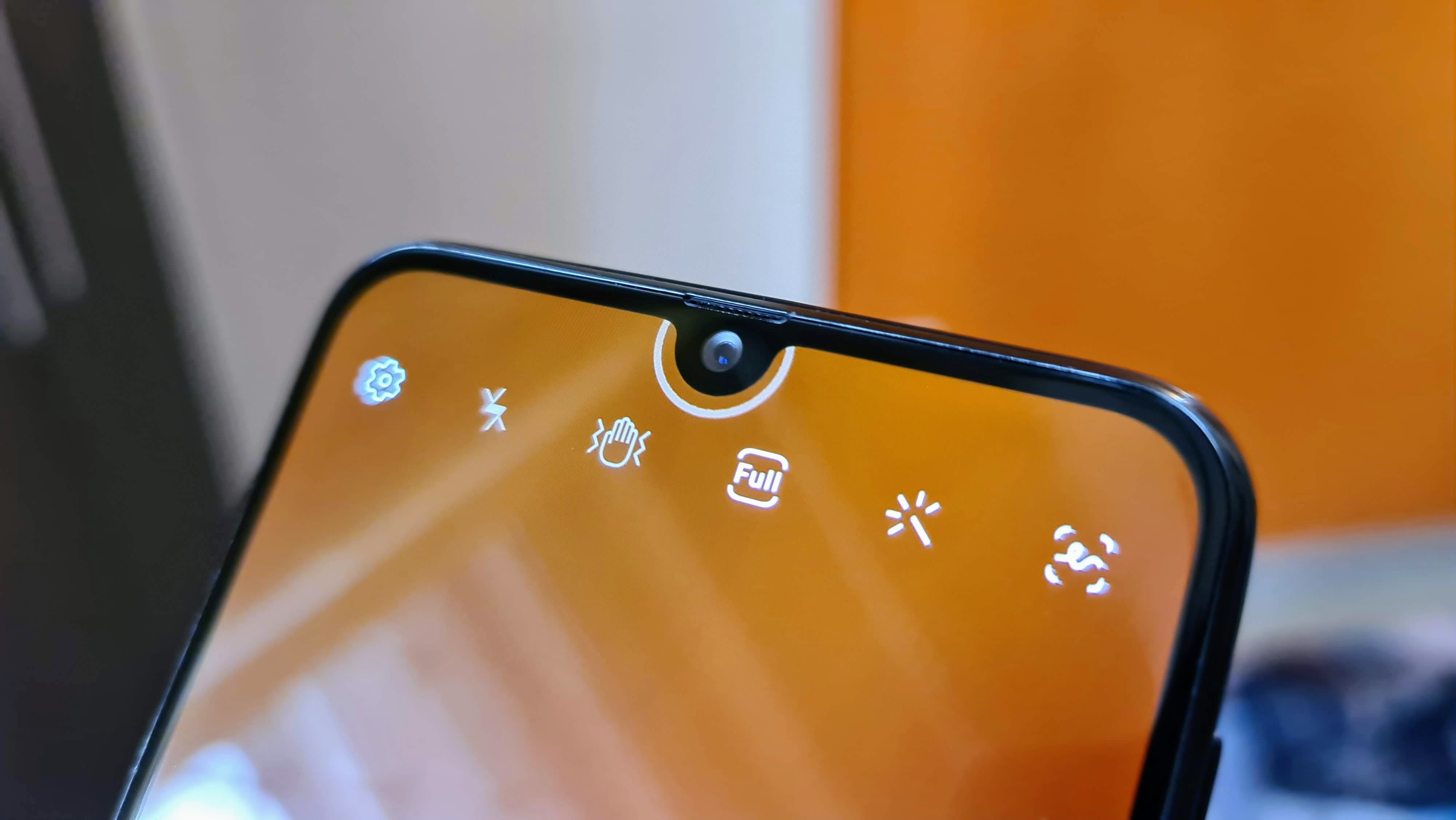 There is a 20-megapixel front-facing camera for selfies.