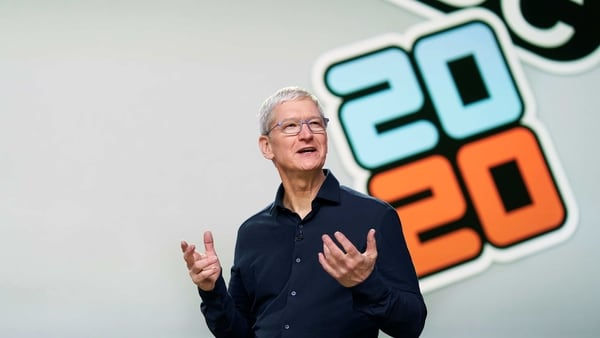 Apple CEO Tim Cook delivers the keynote address during the 2020 Apple Worldwide Developers Conference (WWDC) at Steve Jobs Theater in Cupertino, California, U.S., June 22, 2020. WWDC, in its 31st year and held virtually for the first time, runs through June 26. Brooks Kraft/Apple Inc/Handout via REUTERS