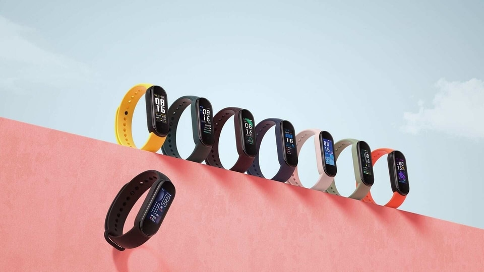 Xiaomi Mi Band 5 has lots of coloured straps to choose from.