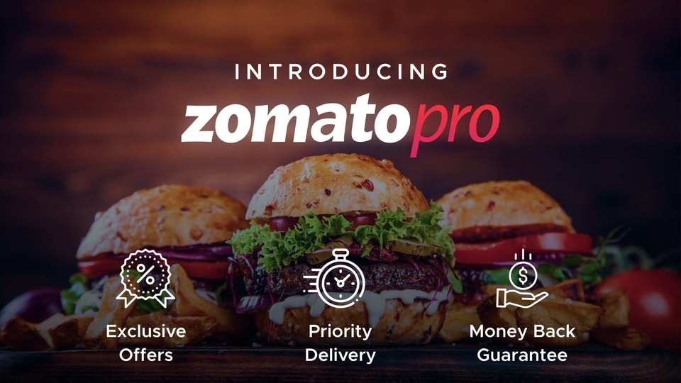 With 50% more partner restaurants, Zomato Pro will come with priority delivery, exclusive deals and a money-back guarantee as well.