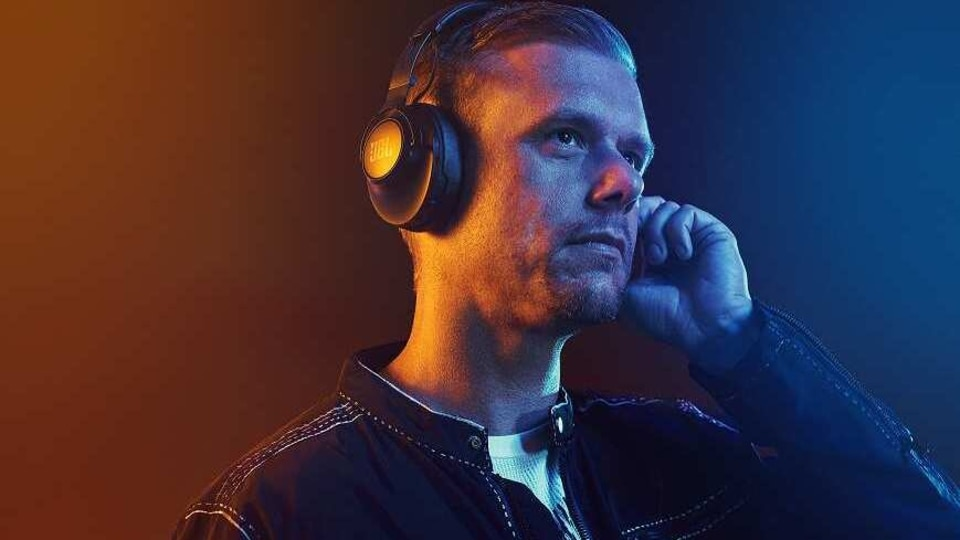 Armin Van Buuren with JBL Club One headphone.