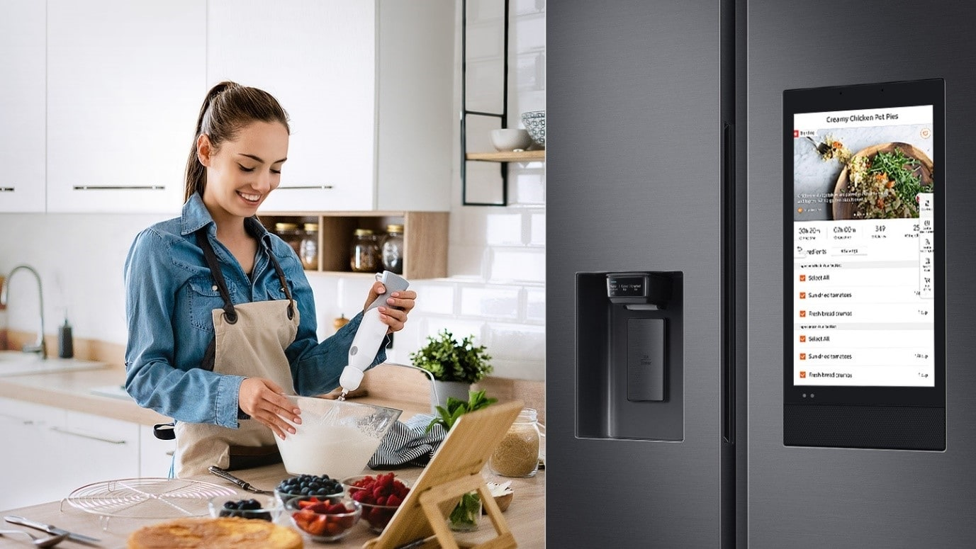 The SpaceMax Family Hub Refrigerator comes with features that automate meal planning, lets you see inside the refrigerator from anywhere and connects with other smart appliances at your home including smartphones.