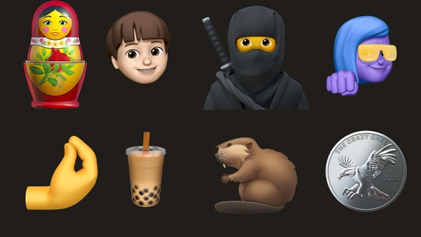 Some of the new emojis Apple previewed today.