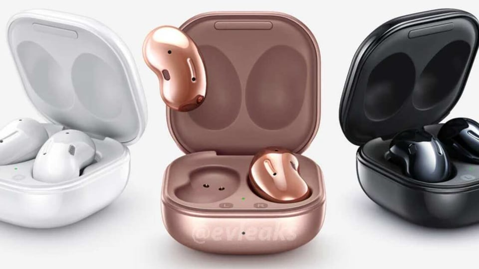 The new Samsung Galaxy Buds Live will come in three colours.