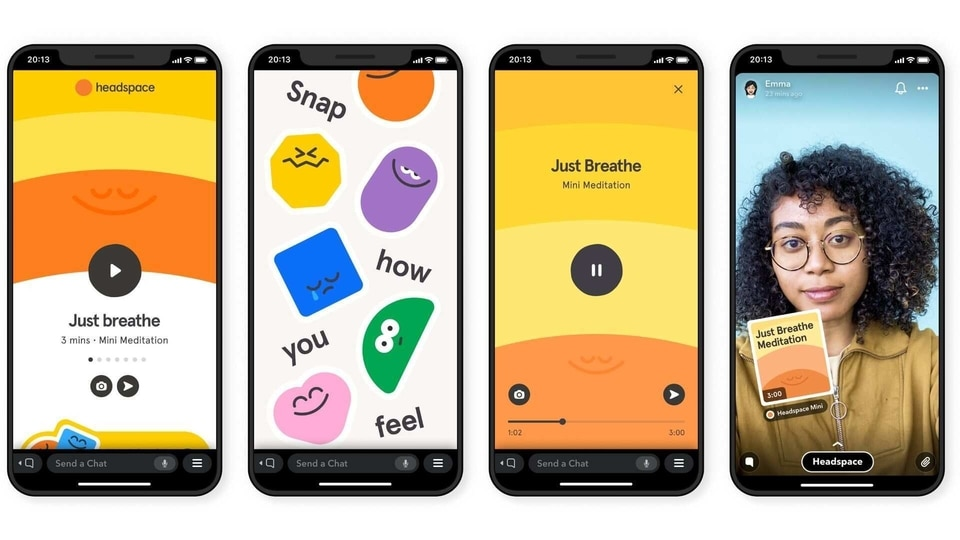 Headspace Mini and other Snap Minis can be found on chat and search.