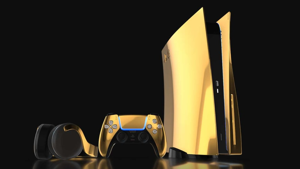 You might have loved or hated the design of the upcoming PS5. But what do you think of a shiny, gold-plated one?