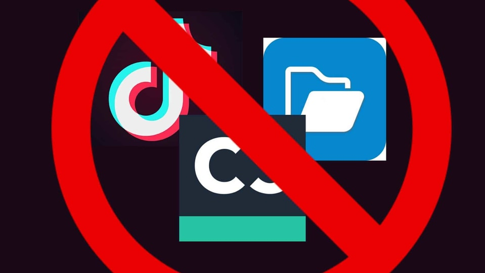 Chinese app ban.