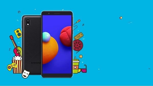 Samsung Galaxy M01 Core budget smartphone.