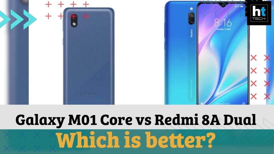 Galaxy M01 Core vs Redmi 8A Dual