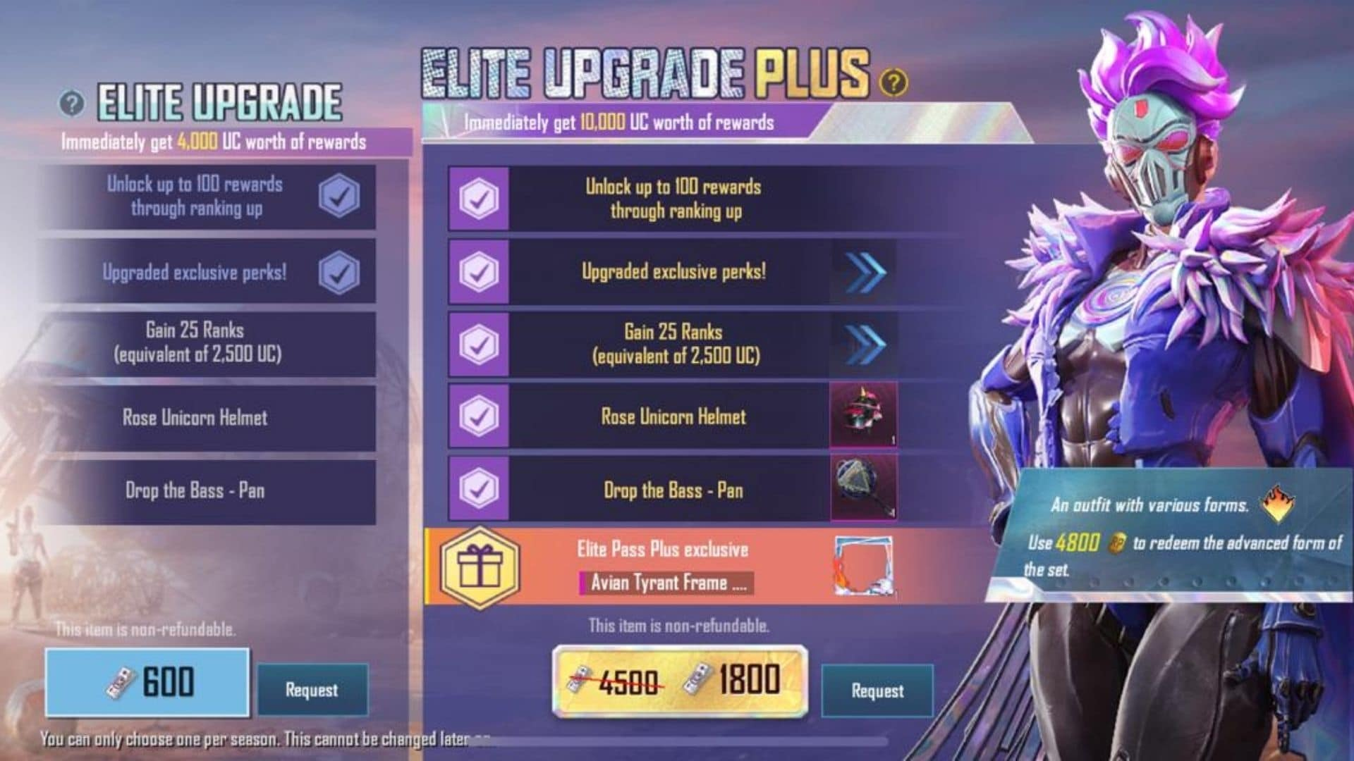 Players can upgrade to the Elite Royale Pass by spending UC.