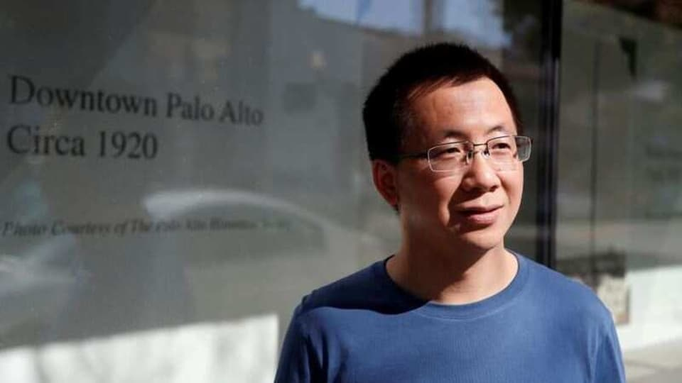 Zhang Yiming, founder and global CEO of ByteDance, poses in Palo Alto, California, US, March 4, 2020.