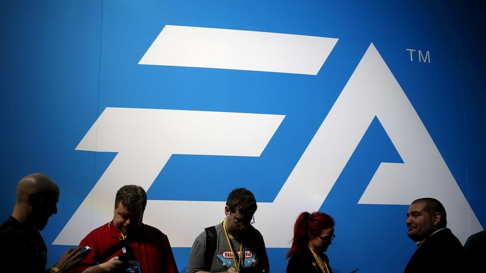 FILE PHOTO: An Electronic Arts (EA) video game logo is seen at the Electronic Entertainment Expo, or E3, in Los Angeles, California, United States, June 17, 2015. REUTERS/Lucy Nicholson/File Photo  GLOBAL BUSINESS WEEK AHEAD