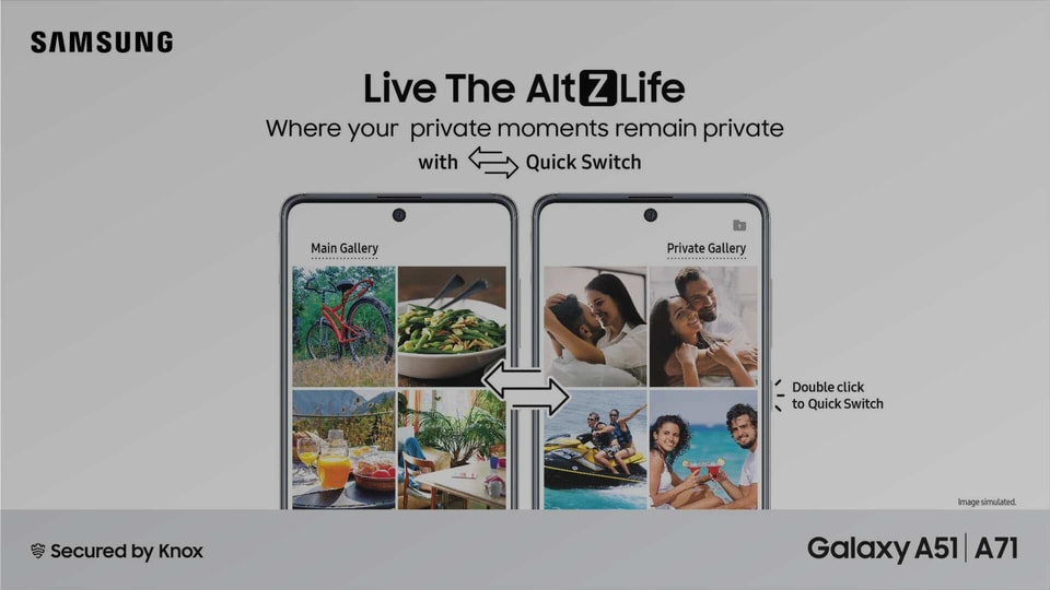 With AltZLife, Samsung smartphone users can now switch quickly between a normal mode and a private mode by just double clicking on the power key.