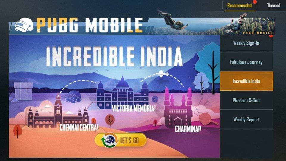 PUBG Mobile has announced a special Independence day event called 'Incredible India' for its fans in the country.