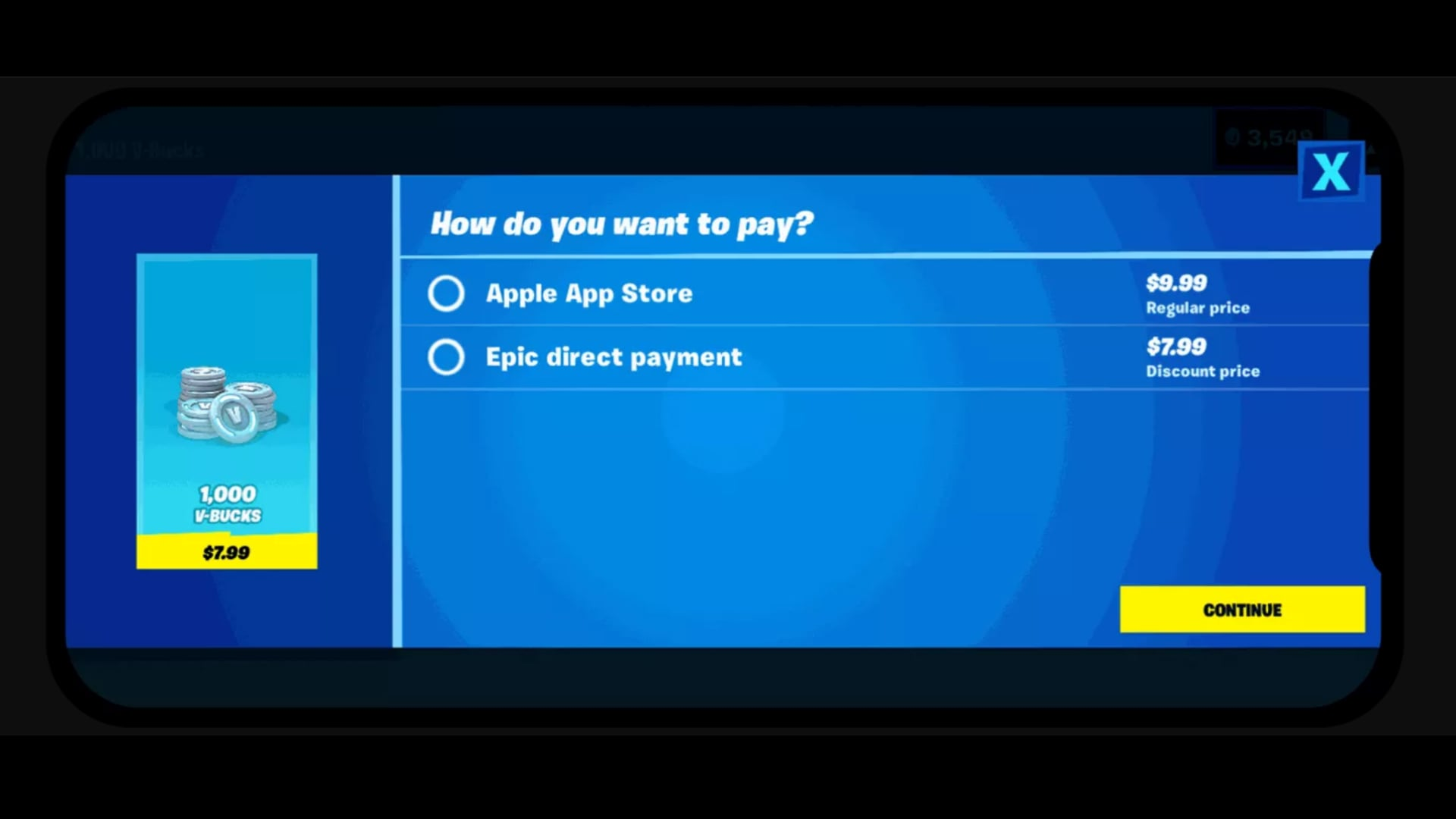 If you select the Epic direct payment, the game sends you to a payment screen where you can pay with either your credit card or through PayPal.