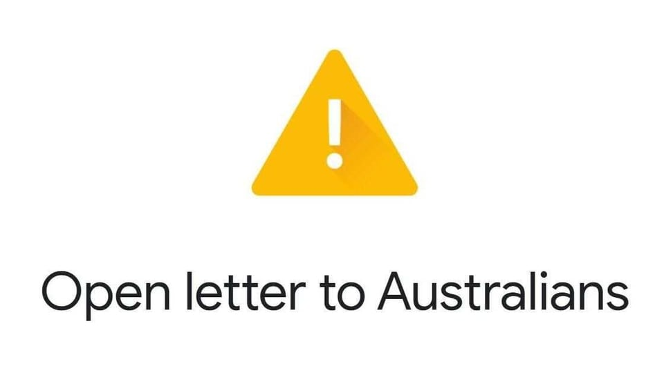 Google pens an open letter to Aussies over News Media Bargaining Code