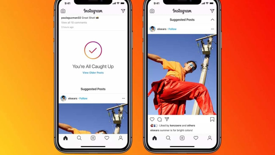 """Usually, Instagram shows a message along the lines of - You're all caught up - once you are done scrolling through all posts made over the last two days by the people you follow. The new Suggested Posts is going to show up right after you see the """"You're All Caught Up"""" message."""