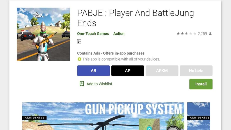 The game has over 100,000 downloads on the Play Store so far and a rating of 2.5.