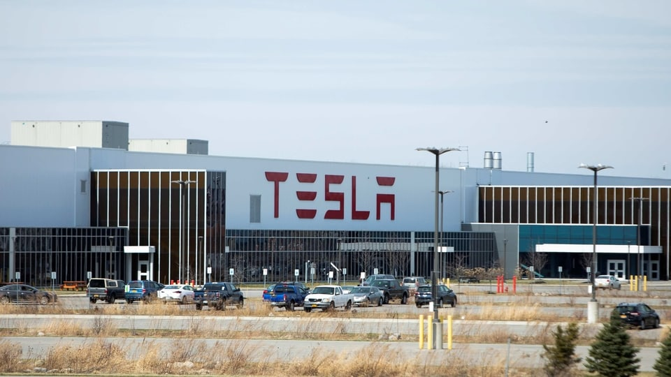 Tesla Inc. Gigafactory 2, which is also known as RiverBend, is pictured during the spread of coronavirus disease (COVID-19), in Buffalo, New York, U.S., March 26, 2020.