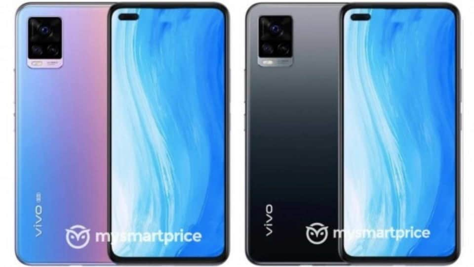 The Vivo V20 should is also going to come with dual cameras on the front, placed on the left corner where the main selfie camera is a 44MP one.