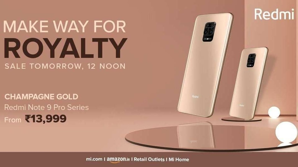 Xiaomi Redmi Note 9 Pro Max Redmi Note 9 Pro Champagne Gold Colour Variants Now Available