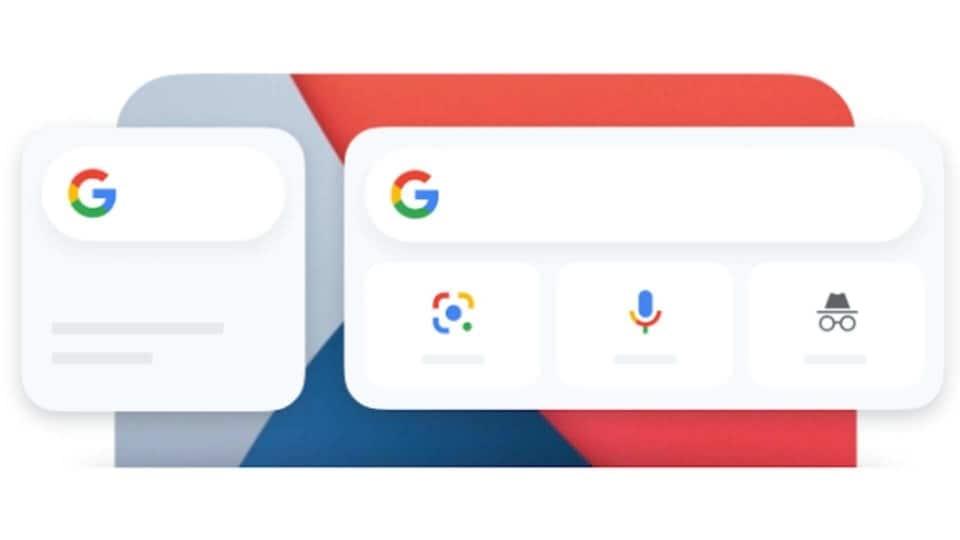 Google Search widget on iOS 14.