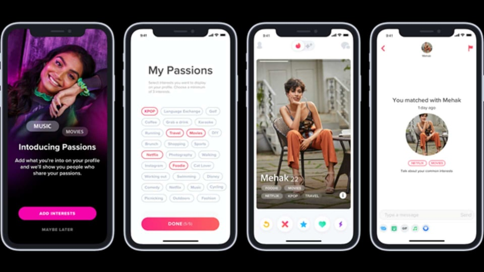 Tinder is offering you a wide range of choices like KPop, working out, travel, Netflix etc to pick from as Passions.